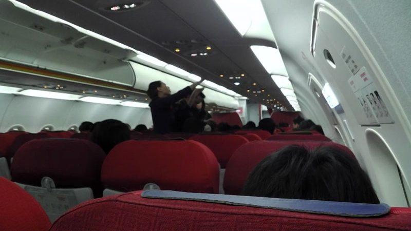 香港エクスプレス機内